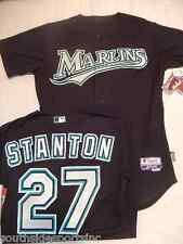 STANTON MARLINS AUTHENTIC BLACK MARLINS COOL BASE ROOKIE JERSEY SIZE 40 NEW