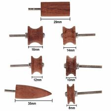 Set of 7 Cocobolo Wood Leather Craft Edge Burnisher Slicker Flat/Pointed Tool