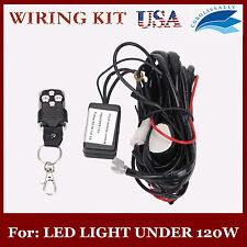 Remote Control Wiring Harness Kit Strobe Switch Relay Led Light Bar 120W 18W 2M