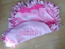 New MINI PERSONALIZED/MONOGRAM Baby Girl Pink camouflage Tie Knot Fleece Blanket