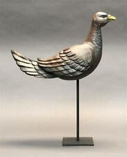 CARVED WOODEN LIFE-SIZE PIGEON By William Feasal. Ornately carved feat... Lot 43