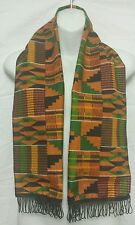 African Kente cloth Scarf  Head Tie Wrap traditional scarves dashiki 1size stole