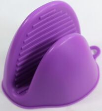 Silicone Oven Glove Kitchen Cooking Heat Resistant Insulate Pot Holder Purple