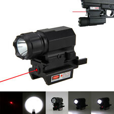1600LM CREE R5 LED Gun Rifle flashlight Torcia Rail Mount Leggero+Red Laser Dot