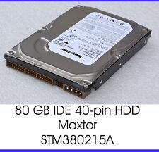 """80 GB IDE RÁPIDO DISCO DURO HDD MAXTOR STM380215A 3,5"""" 8,89 CM 7200 U/ M F11"""