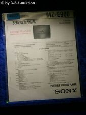 Sony Service Manual MZ E900 Mini Disc Player (#4977)