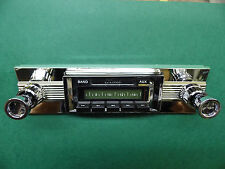 Radio & Fascia suit AUSSIE Tank Fairlane & `56-`59 USA Ford car. 300Watt USB