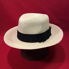 Mist Grey Stetson Fedora Open Road Men's Hat with Grey Ribbon Vintage Size 6 3/4