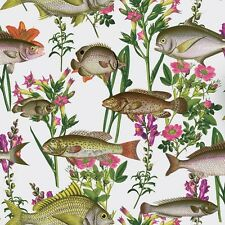 Lagoon White Fish Wallpaper by Holden Multicoloured Fishes 12170