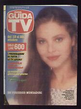 NUOVA GUIDA TV MONDADORI 42/1986 ORNELLA MUTI  PROGRAMMI TV LOCALI ROMA LAZIO