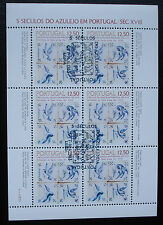 "1983: Sheet piccoli archi vel Block ""azulejos"" Michel-N. 1603 ersttag First Day"
