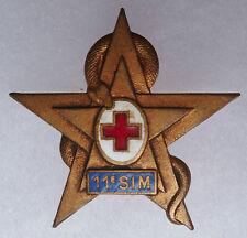 Insigne 11° SIM Section Infirmiers Militaires Service de Santé AFN ORIGINAL