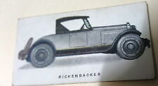 1924 RICKENBACKER ROADSTER  - Imperial Tobacco Co. CANADA Cigarette Card RARE