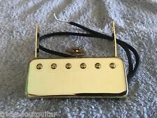 TOG FLOATING ARCHTOP HUMBUCKER PICKUP GOLD WITH POLE SCREWS NECK MOUNT TYPE