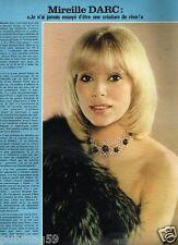 Coupure de Presse Clipping 1978 (1 page) Mireille darc