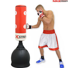5.5ft Kick Boxing Free Standing Punch Bag Heavy Stand Gym Fight Martial Arts MMA