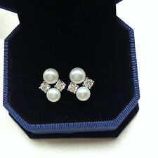 Genuine Cultured 4-5mm Freshwater Pearl Earring S925 Silver Wedding Earring