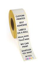 100 x Self Adesivo PORTABIGLIETTI etichette a colori su un rullo - 49mm x 75mm