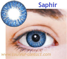LENTILLES DE COULEUR SAPHIR COLOUR LENS VERRES CONTACT SMALL PUPIL FANTAISIE 3M