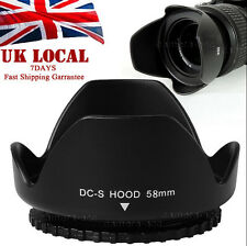 58mm Flower Lens Hood FOR canon eos 350d 400d 450d h373 650d 550d 1100d kit UK