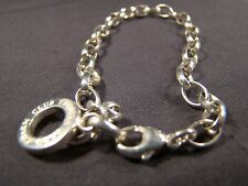 Beautiful Sterling Silver Thomas Sabo Wide Link Charm Bracelet Carrier .925 7.5""