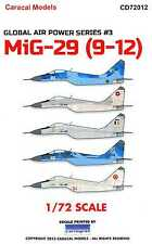 Caracal Decals 1/72 MIKOYAN MiG-29 Fighter in International Service