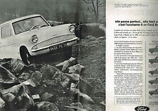 PUBLICITE  1964   FORD  ANGLIA   6 CV ( 2 pages)