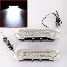 2X 28 LED Car Truck Grille Universal Driving Daytime Fog Aux White Light Lamp