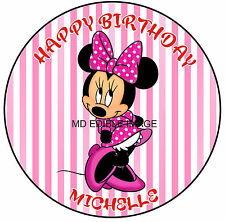 Minnie Mouse Edible Icing Image Cake Party Decoration Topper Personalised