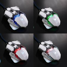 10D Buttons Professional 4000DPI LED Optical Wired Gaming Mouse For Laptop PC US
