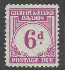 GILBERT & ELLICE IS. SGD6 1940 6d PURPLE MTD MINT