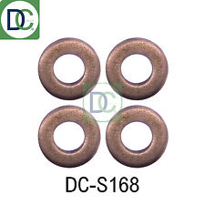 4 x Diesel Injector Washers / Seals for Injectors in Kia Sedona II 2.9 CRDI