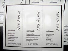 Mary Kay Samples Satin Hands  Hand cream  - fragance free SET OF 10 NEW