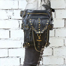 Gothic Steam-punk Metal Rock Gürtel Taille Tasche Holster Bag Cosplay Kostüm Neu