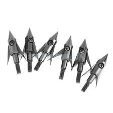 6 Archery Bowfishing Fish Hunting Arrow Head Points Torped Broadhead 120gr