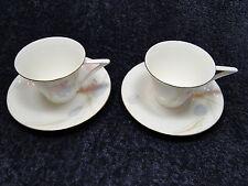 Mikasa Swiss Garden CR009 Tea Cup Saucer Set - TWO