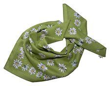 Trachtentuch Halstuch Damen Herren Trachtenhalstuch Edelweiß Grün Gras