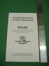 The British Association Of Colliery Management Rules. Very Good Plus Condition.