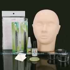 Mannequin Training Head Make Up Individual Eyelash Extensions Practice Set Kit