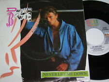 "7"" - David Bowie / Never let me down & ´87 and cry - 1987 MINT # 3716"