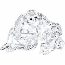 BRAND NEW SWAROVSKI (5063689) CHIMPANZEE MOTHER WITH BABY CRYSTAL FIGURINE
