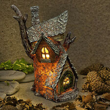 New Garden Glow-Solar Fairy House -Tree House Cottage -Home of Agnes Moonshadow