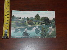 POSTCARD RARE OLD VINTAGE 1910 OMAHA NEBRASKA KOUNTZE PARK EAST LAKE PAVILION