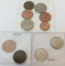 10 Foreign Coins Canada Bahamas Others Starfish 1964 1992 1993 Elizabeth 1 Cent