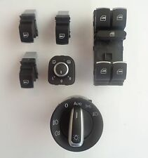 VW Golf MK5 6 7 Jetta Passat Tiguan CHROME Window Headlight Mirror Switch SET