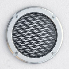 "2pcs New 4"" inch Silver Audio Speaker Cover Decorative Circle Metal Mesh Grille"