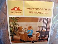 Madison Waterproof Chair Pet Protector BEIGE Quilted Softness Easy Care