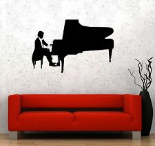 Vinyl Decal Classical Music Pianist Piano Wall Stickers Mural (ig1317)