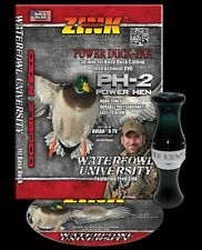 ZINK CALLS PH-2 POWER HEN MALLARD GREEN POLY DOUBLE REED DUCK CALL & DVD COMBO