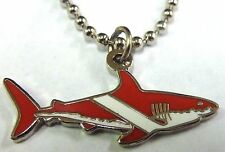 SCUBA DIVER Flag Great Tank Tiger White Shark Suit Coral Reef Pendant Necklace